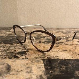 be1e3af0597d Versace 1244 1399 Burgundy Pale Gold Eyeglasses